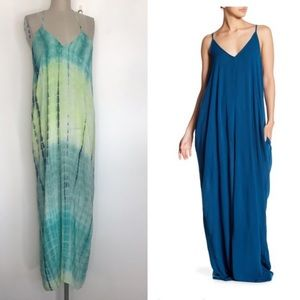 Love stitch M/L tie-die gauze maxi dress